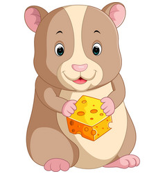 cute hamster cartoon vector image vector image