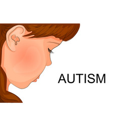 Face of an autistic child vector
