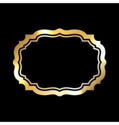 Gold frame simple black vector