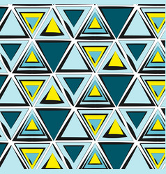 Green blue yellow tribal pattern abstract vector
