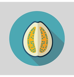 Guava flat icon Tropical fruit vector image vector image