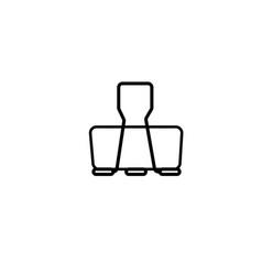 paper clip icon vector image