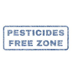 Pesticides free zone textile stamp vector