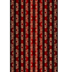 Red and gold material background vector image