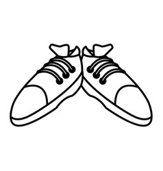 sport sneakers isolated vector image