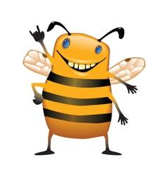 Standing bee vector image vector image