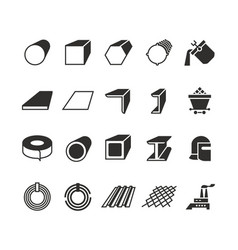 Steel pipe and roll steel metal product vector