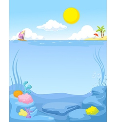 summer sea background - vector image