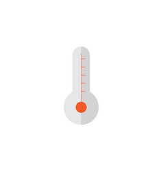 Thermometer flat icon symbol premium quality vector