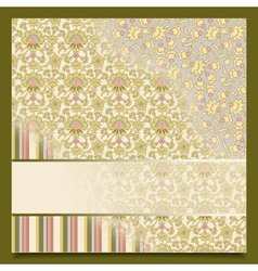 Vintage abstract retro background greeting card vector image