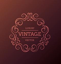 vintage luxury floral frame design vector image