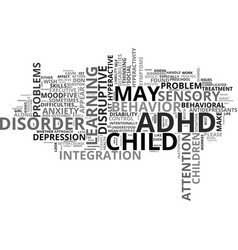 what s not adhd text word cloud concept vector image