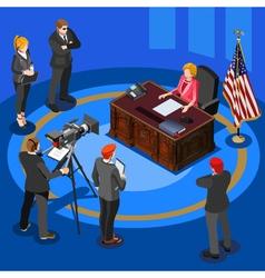 President speech isometric people vector