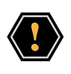 alert symbol isolated icon vector image