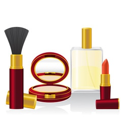 Set cosmetics 01 vector