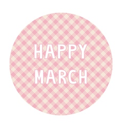 Happy march background4 vector