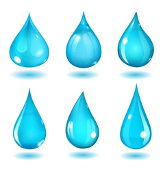 Light blue drops vector