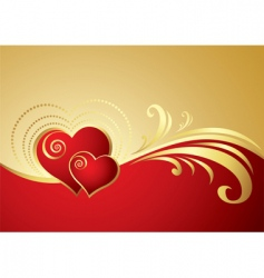 Heart card vector