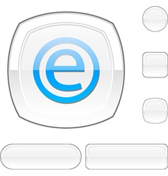 Enternet white button vector