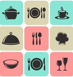 Restaurant menu icons vector