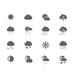Black icons - weather vector