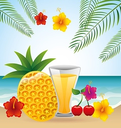 Tropical drink vector