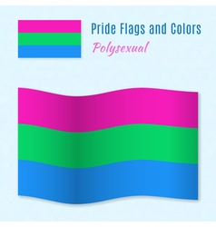 Polysexual pride flag with correct color scheme vector