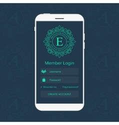 Abstract creative concept member login form vector
