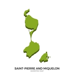 Isometric map of saint-pierre and miquelon vector