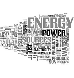 Alternative energy source pros and cons text word vector