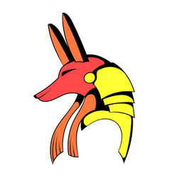 Anubis head icon cartoon vector
