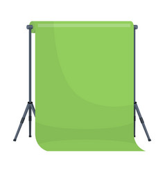 Background standhromakey making a movie single vector