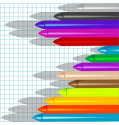 background with crayons3 vector image