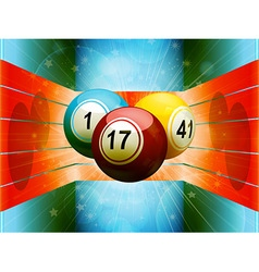 Bingo balls in colourful 3D environment vector image vector image
