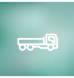 Cargo truck thin line icon vector image
