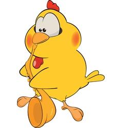 Chicken the saxophonist cartoon vector image vector image