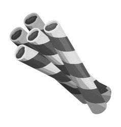 Chocolate wafer straws icon in monochrome style vector