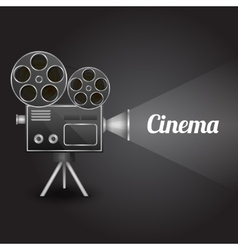 Cinema entertainment poster vector image vector image