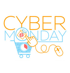 Concept cyber monday virtual cart vector