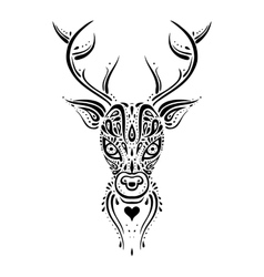 Deer head Ethnic pattern vector image