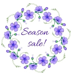 Floral frame wreath design element season sale vector