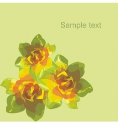 floral postcard vector image vector image