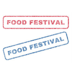 Food festival textile stamps vector