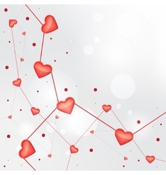 Heart valentine light background vector image