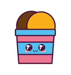 Ice cream cup icon vector
