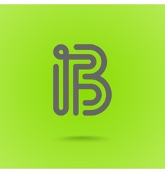 Letter B Graphic Logo Element vector image