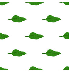 matcha tea leaves seamless patternjapaneese drink vector image