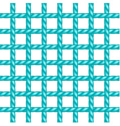Net of rope in turquoise design vector