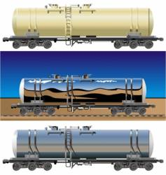 oil gasoline tanker cars vector image