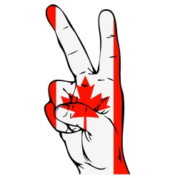 Peace sign of the canadian flag vector